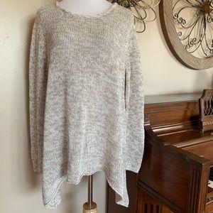 NWT Sonoma Size 2X Gray Marled Sweater